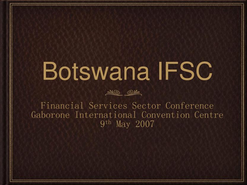 Botswana IFSC