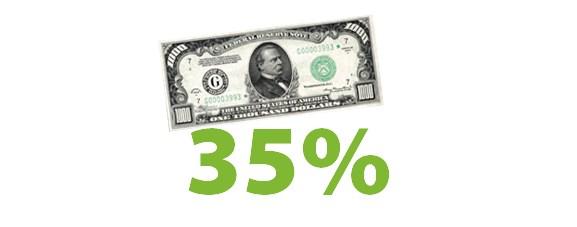35% на депозит