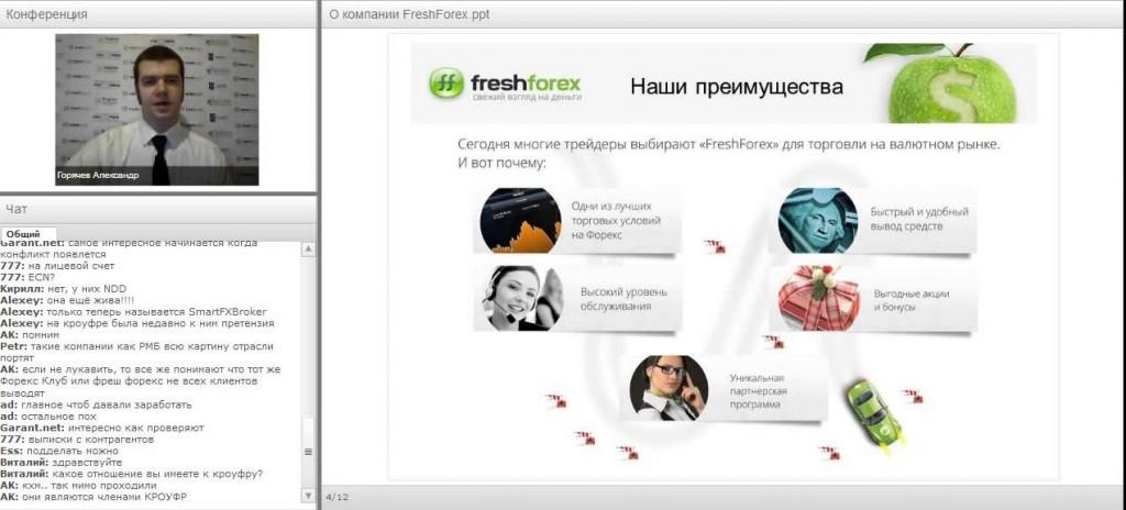 Freshforex вебинар